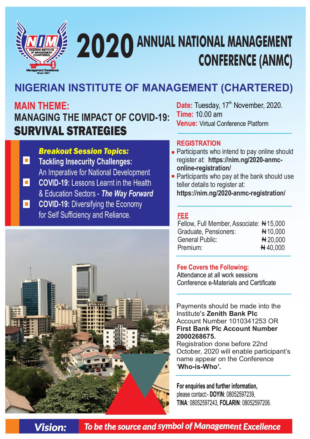 2020 Annual National Management Conference