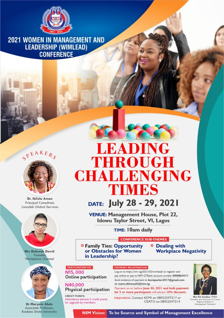 2021 Women in Management and Leadership Conference