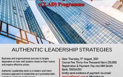 CLAD: AUTHENTIC LEADERSHIP STRATEGIES