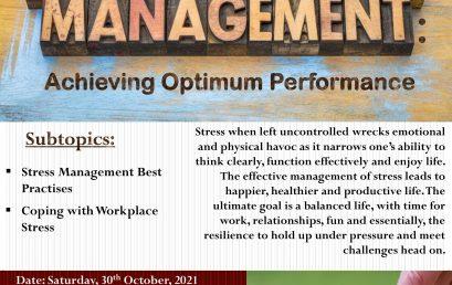 Stress Management: Achieving Optimum Performance